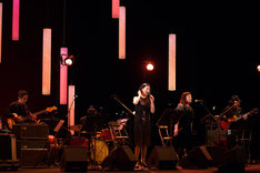 「15th anniversary concert 畠山美由紀 ソロ・デビュー 15周年記念 大感謝祭▽」の様子。(撮影:仁礼博)