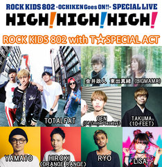 「ROCK KIDS 802 with T☆SPECIAL ACT」のメンバー。