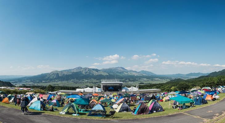 「阿蘇ロックフェスティバル2017」会場の様子。(写真提供:阿蘇ロックフェスティバル)