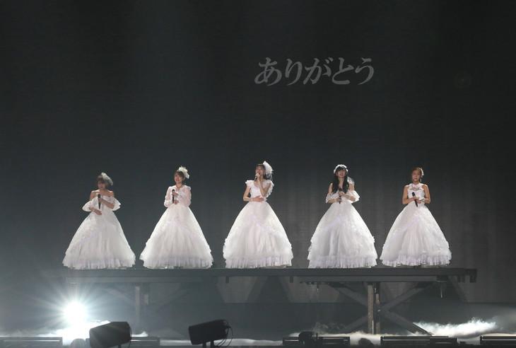 「℃-ute ラストコンサート in さいたまスーパーアリーナ ~Thank you team℃-ute~」の様子。(写真提供:アップフロント)
