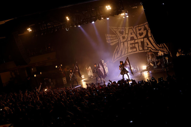 「BABYMETAL US TOUR 2017 SPECIAL HEADLINE SHOW IN LA」の様子。(Photo by Tsukasa Miyoshi [Showcase])