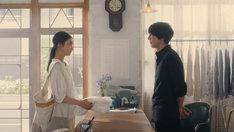「Laundry Snow朝篇<21:25 東京発、プラハ行き>」のワンシーン。