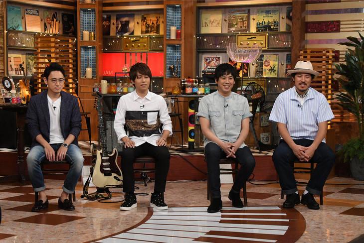 左からいしわたり淳治、杉山勝彦、スキマスイッチ。 (c)テレビ朝日