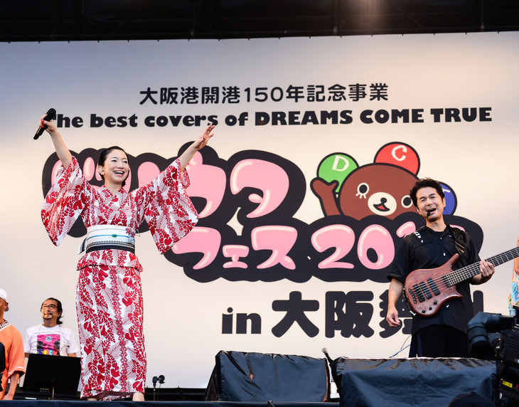 「The best covers of DREAMS COME TRUE ドリウタフェス 2017 in 大阪舞洲」の様子。
