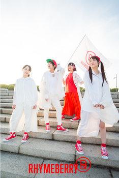 ライムベリー。左からMC YUIKA、MC MIRI、DJ OMOCHI、MC MISAKI。