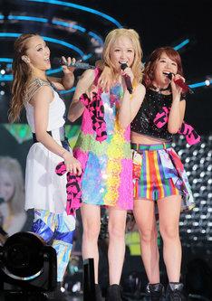 左からDream Shizuka、Dream Ami、Dream Aya。