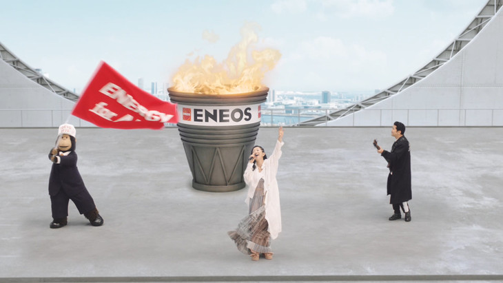 ENEOS新CM「エネルギーソング発表編」のワンシーン。