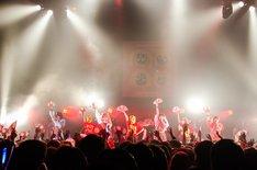「ゆるめるモ!ディスコサイケデリカツアー」赤坂BLITZ公演の様子。(写真:曽我美芽)