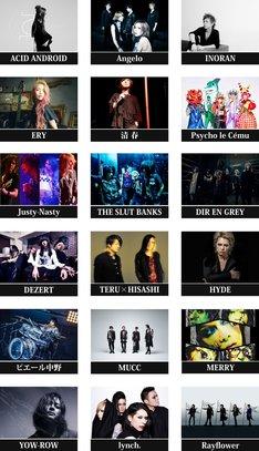 トリビュートアルバム「D'ERLANGER TRIBUTE ALBUM ~Stairway to Heaven~」参加アーティスト