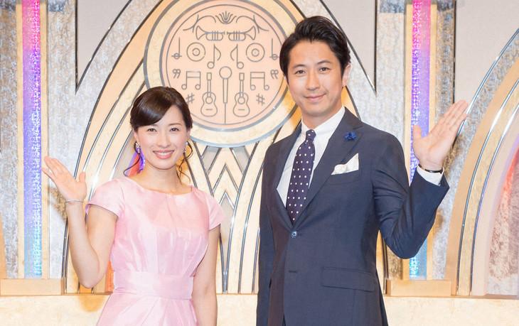 司会の小郷知子アナウンサーと谷原章介。(c)NHK