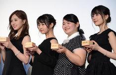 左から白石麻衣、伊藤万理華、富田望生、生田絵梨花。