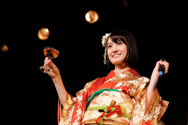 振袖を着た咲良菜緒(チームしゃちほこ)。(Photo by HIROKAZU)