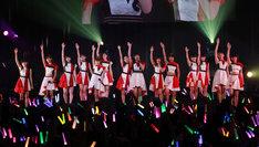 「モーニング娘。結成20周年記念イベント ~21年目もがんばっていきまっしょい!~」の様子。(写真提供:アップフロント)