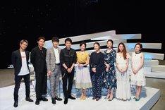 「dTV×FOD MUSIC PROGRAM『LOVE or NOT♪』」第1回出演者たち。