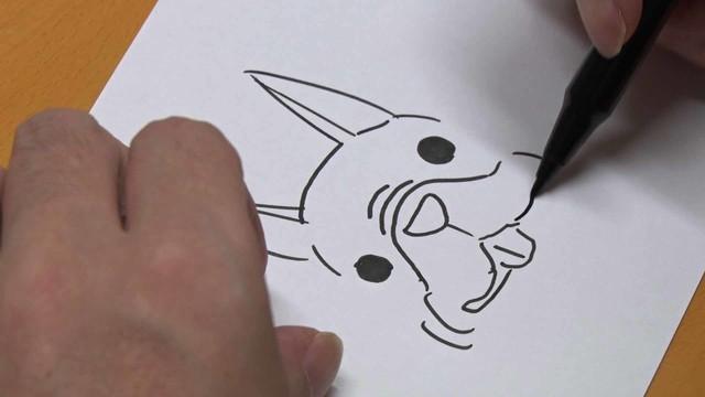 鉄拳のパラパラ漫画制作風景。