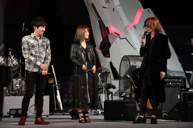 左から澤野弘之、Tielle、SUGIZO。