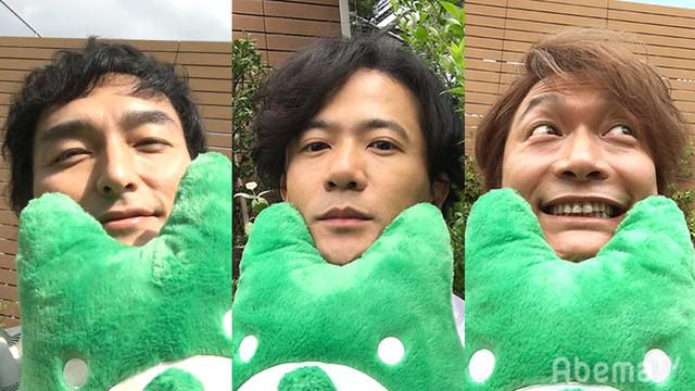左から草なぎ剛、稲垣吾郎、香取慎吾。(c)AbemaTV