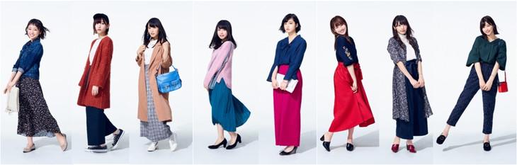 メチャカリでレンタルしたアイテムを着用した欅坂46メンバー。