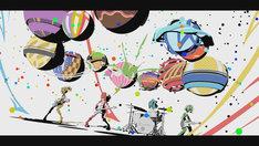 """「""""ブルボン×SCANDAL"""" Webアニメーションムービー」のワンシーン。"""