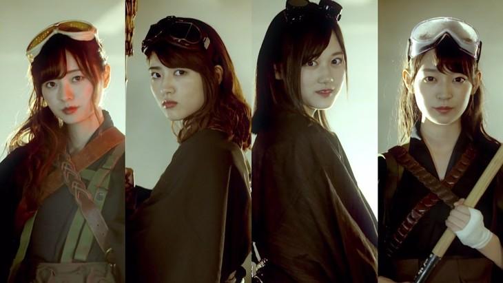 乃木坂46「失恋お掃除人」ミュージックビデオのワンシーン。