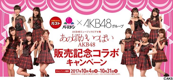 「あの頃がいっぱい~AKB48ミュージックビデオ集~」コラボキャンペーンの告知ビジュアル。(c)AKS