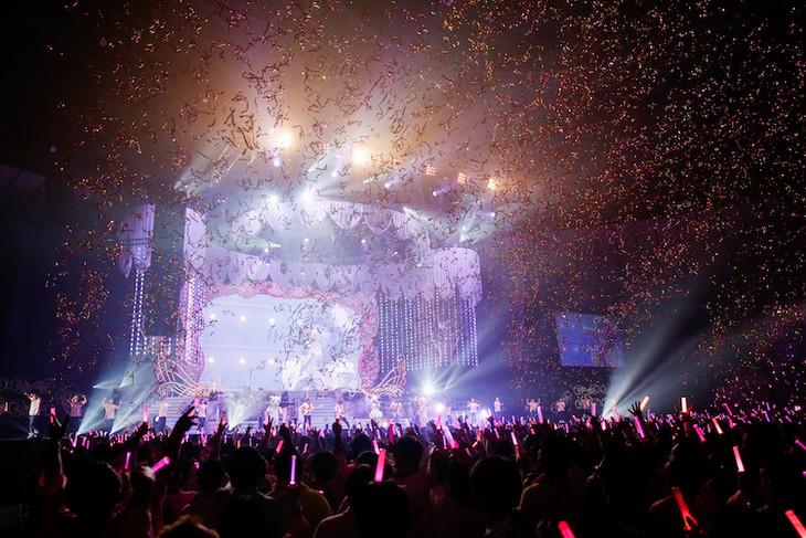 「20th Anniversary 田村ゆかり LOVE ▽ LIVE2017 *Crescendo ▽ Carol*」1日目の様子。(撮影:荒金大介)