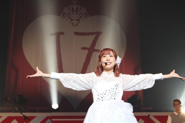 楠田亜衣奈「楠田亜衣奈 2nd LIVE TOUR '17 YEAR▽▽▽▽▽▽▽」東京・中野サンプラザホール公演の様子。(撮影:中村ユタカ)
