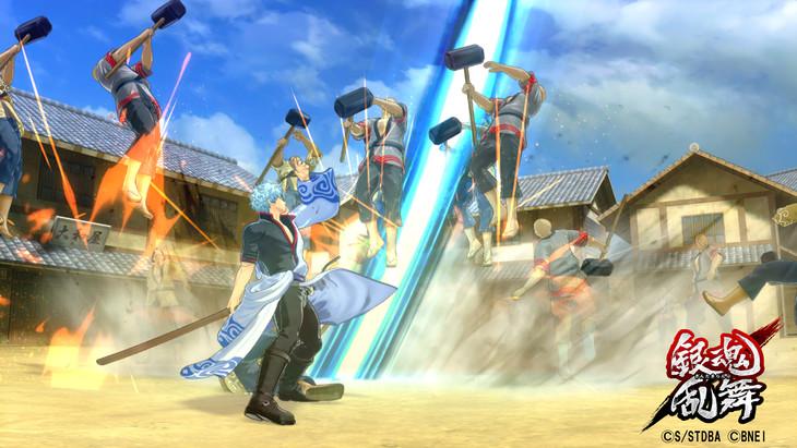 「銀魂乱舞」のゲームプレイ画面。