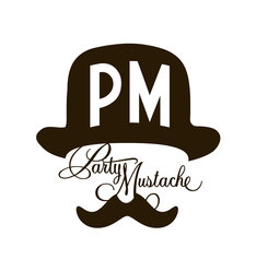 「Party Mustache」ロゴ