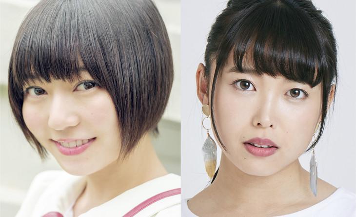 左から安本彩花(私立恵比寿中学)、中島早貴(ex. ℃-ute)