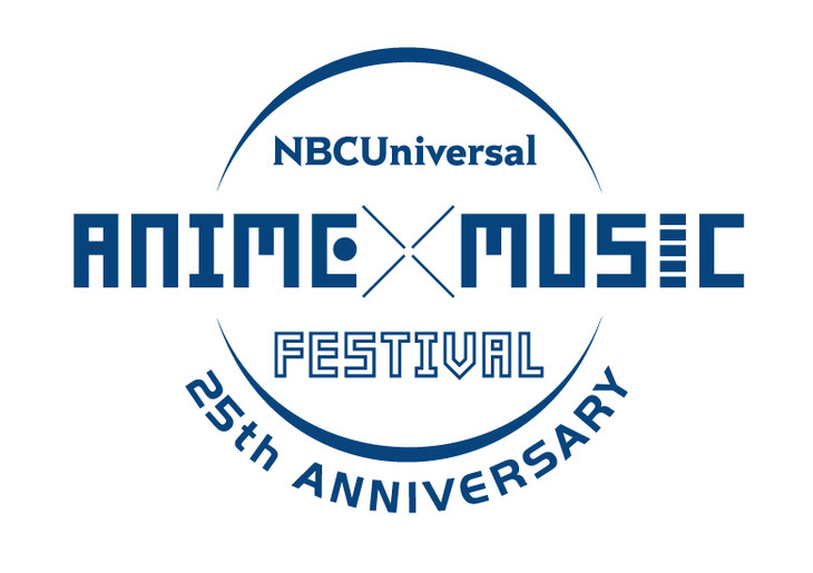 「NBCUniversal ANIME×MUSIC FESTIVAL ~25th ANNIVERSARY~」ロゴ