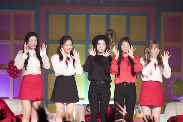 "「Red Velvet Premium Showcase ""ReVeluv-Baby Party""」の様子。"