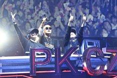 「PKCZ×HiGH&LOW 完成披露試写会&PREMIUM LIVE SHOW」の様子。