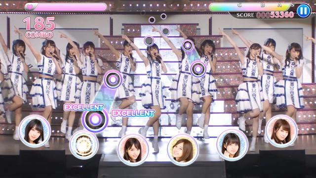 「乃木坂46リズムフェスティバル」プレイ画面