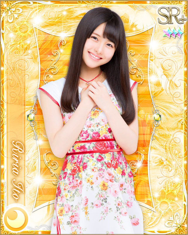 伊藤理々杏の特典カードデザイン。