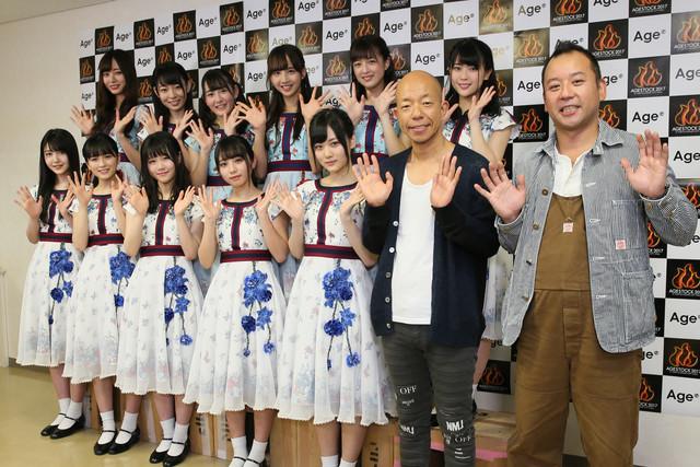 乃木坂46 3期生とバイきんぐ。