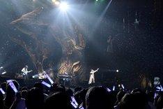 シャボン玉が舞う中「ビー玉の中の宇宙」を歌うそらる。(撮影:小松陽祐[ODD JOB]、岡本麻衣)