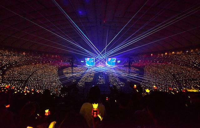 BIGBANGの東京ドーム公演の様子。