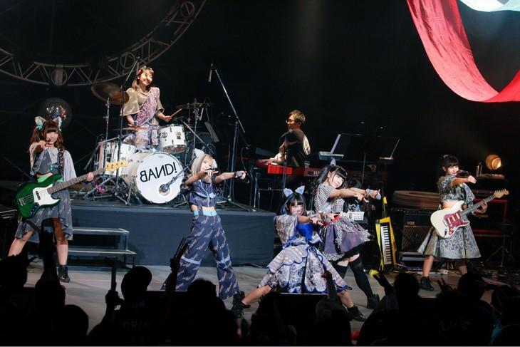 バンドじゃないもん!「バンドじゃないもん!パーフェクトピースコンサート2017~大阪にSEY YES!を~」の様子。(写真提供:ポニーキャニオン)
