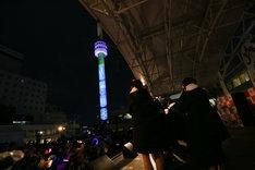 2017年1月に行われたNGT48劇場オープン1周年記念イベントの様子。(c)AKS