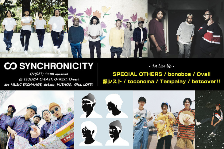 「SYNCHRONICITY'18」第1弾出演アーティスト。