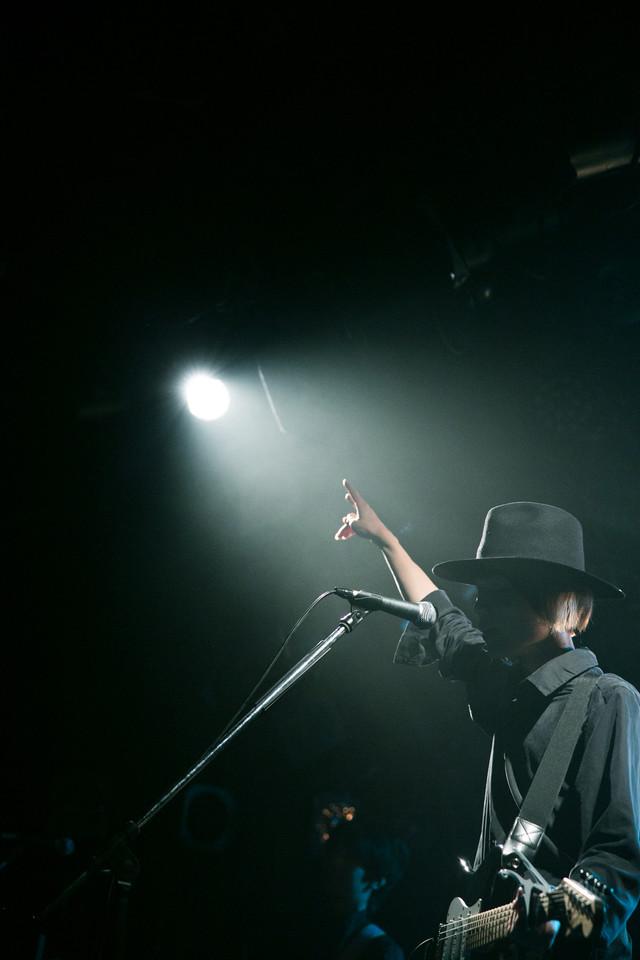 竹田昌和(G, Vo / ウソツキ)(撮影:山野浩司)