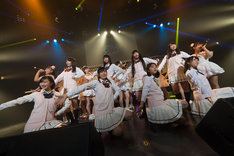 「8th anniversary アイドルカレッジ8大都市ツアー!!!~新リーダーエビちゃん、ごあいさつに参ります~」にてアイドルカレッジに加入した新メンバー。(撮影:林晋介)