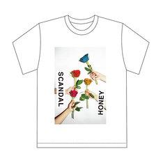 SCANDAL「HONEY」完全生産限定盤に付属するTシャツのデザイン。