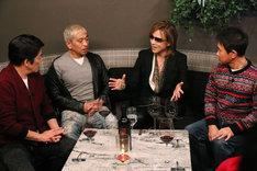 左から坂上忍、松本人志、YOSHIKI、浜田雅功。(c)フジテレビ
