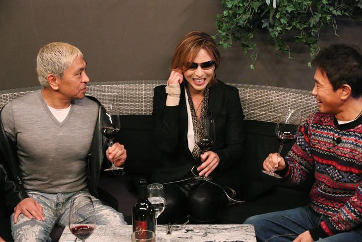 左から松本人志、YOSHIKI、浜田雅功。(c)フジテレビ