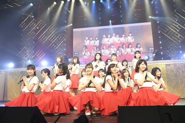 NGT48「NGT48単独コンサート~未来はどこまで青空なのか?~」東京・TOKYO DOME CITY HALL公演の様子。(写真提供:AKS)