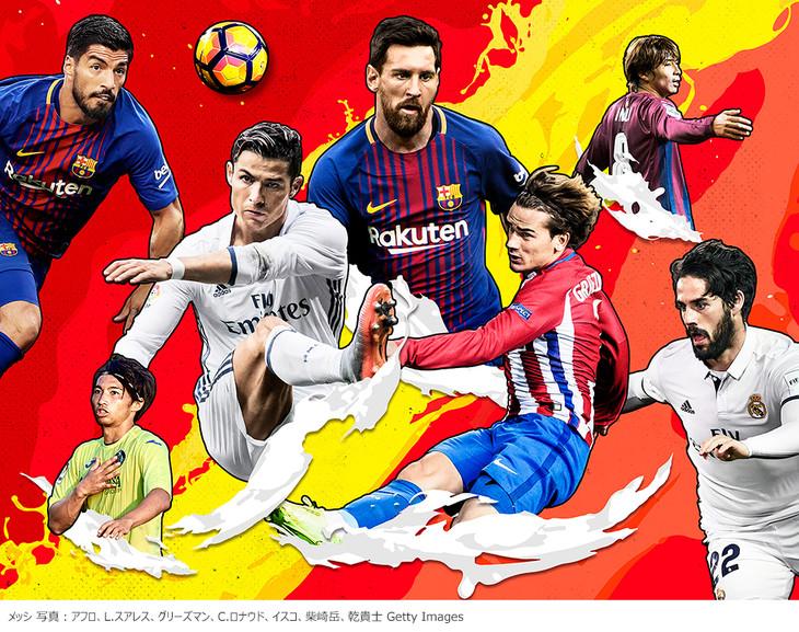 「スペインサッカー リーガ・エスパニョーラ 17-18シーズン」ビジュアル