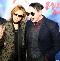 YOSHIKI(X JAPAN)とマリリン・マンソン。