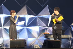 MCを務める新内眞衣(乃木坂46)と山下健二郎(三代目 J Soul Brothers from EXILE TRIBE)。(写真提供:ニッポン放送)